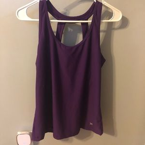 Workout top with built in bra